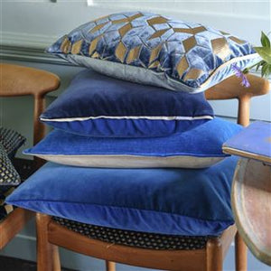 Varese Marine Blue Cushion from Designers Guild