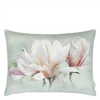 Yulan Magnolia Velvet Cushion, by Designers Guild