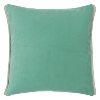 Varese Pale Jade & Celadon Velvet Cushion, by Designers Guild