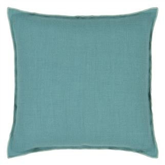 Brera Lino Ocean & Celadon Linen Cushion,  from Designers Guild