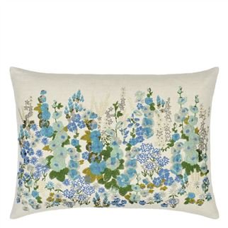 Hollyhock Celadon Cushion, from Designers Guild
