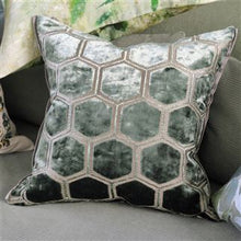 Load image into Gallery viewer, Manipur Jade Velvet Cushion, by Designers Guild