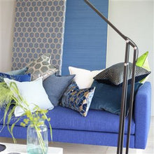 Load image into Gallery viewer, Cassia Prussian & Granite Cushion, New Collection from Designers Guild
