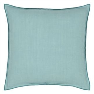 Brera Lino Ocean & Celadon Cushion, New Collection from Designers Guild
