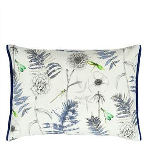 Outdoor Acanthus Indigo Cushion from Designers Guild