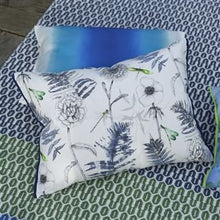 Load image into Gallery viewer, Outdoor Acanthus Indigo Cushion from Designers Guild