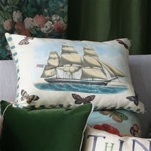 Load image into Gallery viewer, Blue Coral Delft Cushion, New John Derian Collection