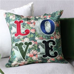 LOVE Forest Cushion, by John Derian Collection for Designers Guild