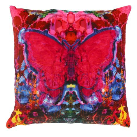 Butterfly Blotch Velvet Cushion by Timorous Beasties