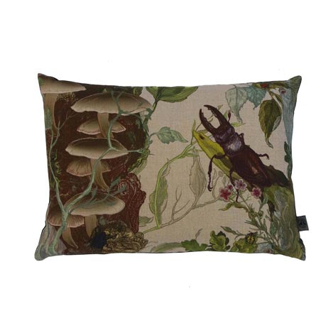 Bugs n' Beetles Linen Cushion by Timorous Beasties