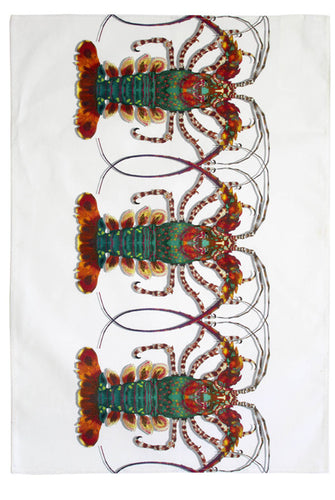 Crustacean Row Tea Towel by Timorous Beasties