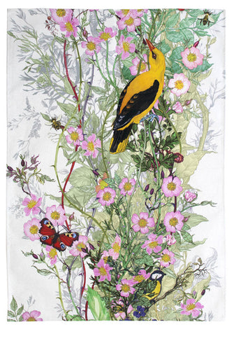 Golden Oriole Tea Towel by Timorous Beasties
