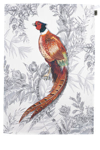 Pleasant Pheasant Tea Towel by Timorous Beasties