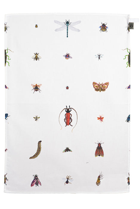 Insects Tea Towel by Timorous Beasties
