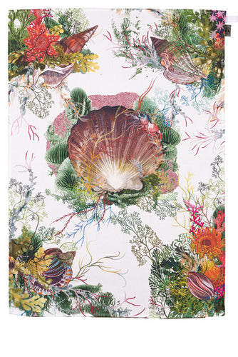 Fruits de Mer Tea Towel by Timorous Beasties