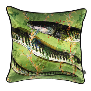 Eel Velvet Cushion, sage, by Timorous Beasties