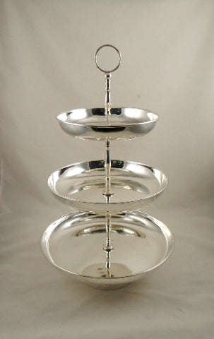 Silver Plated 3-Tiered Serving Stand
