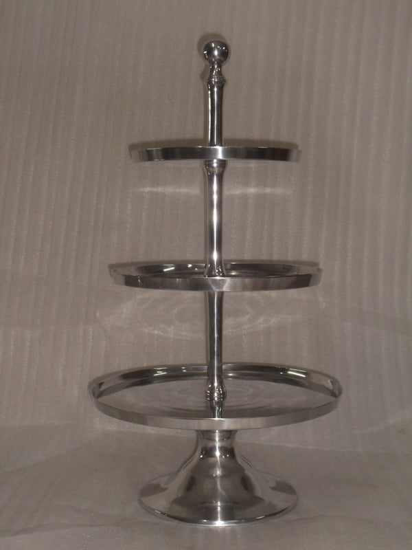 Aluminum 3-Tiered Plate Stand