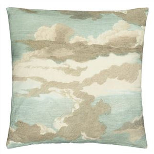 Dragonfly over Clouds Sky Blue Cushion, from John Derian