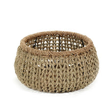 Load image into Gallery viewer, Open Weave Seagrass Basket with rope border