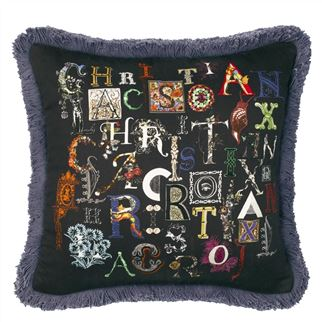 Do You Speak Lacroix? Multicolour Cushion, New Collection from Maison Christian Lacroix for Designers Guild