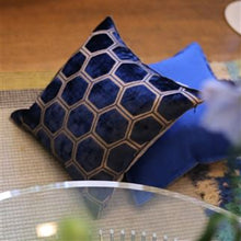 Load image into Gallery viewer, Manipur Midnight Velvet Cushion, New Collection from Designers Guild