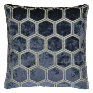 Manipur Midnight Velvet Cushion, New Collection from Designers Guild
