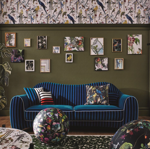 Birds Sinfonia Crepuscule Cushion by Maison Christian Lacroix for Designers Guild