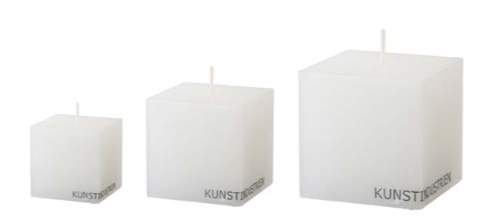 Wax Altar Candles, cubic (various sizes)