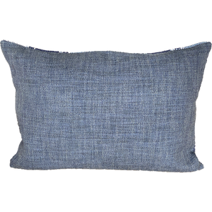 Almacan Peacock Stribed Cushion af Corinne & Crowley