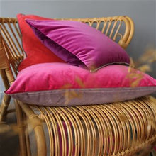 Load image into Gallery viewer, Varese Damson & Cassis Velvet Cushion, New Collection from Designers Guild