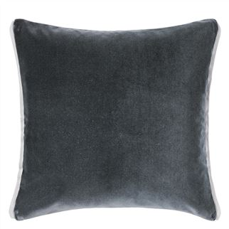 Varese Graphite & Platinum Velvet Cushion, New Collection from Designers Guild
