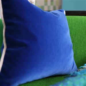 Varese Marine & Cerulean Velvet Cushion, New Collection from Designers Guild