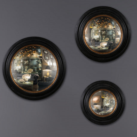 Round Convex Mirrors Framed (set of 3)