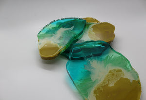 Wavy - 5 Piece Resin Coaster Set
