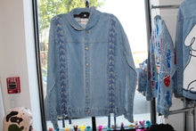 "Load image into Gallery viewer, Sequins ""Golf Club"" Denim Jacket"