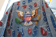 "Load image into Gallery viewer, Sequins ""US Great Seal"" Denim Jacket"
