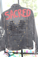 "Load image into Gallery viewer, ""Sacred"" Denim Jacket"