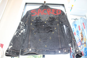 """Sacred"" Denim Jacket"