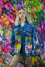 "Load image into Gallery viewer, ""EYE SEE YOU"" Denim Jacket"