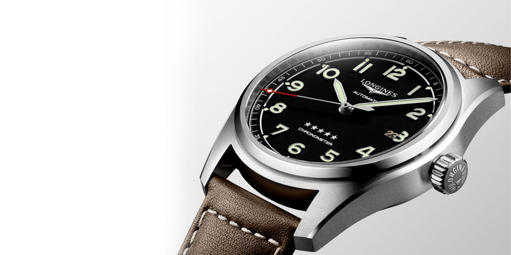 Longines Spirit black dial