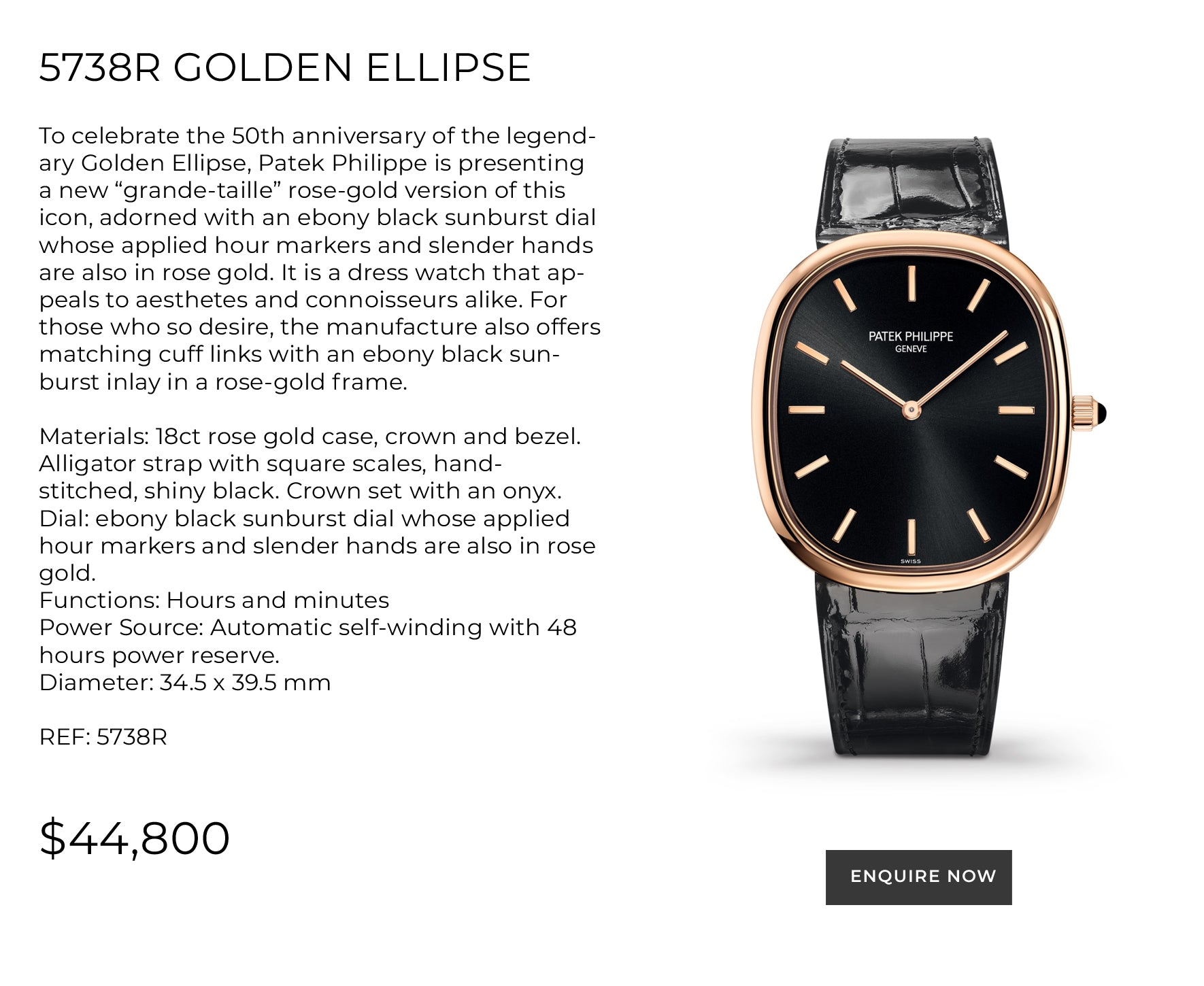 5738R - GOLDEN ELLIPSE