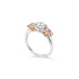 ARGYLE PINK DIAMOND AND WHITE DIAMOND PLATINUM AND ROSE GOLD RING