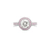 "ARGYLE PINK DIAMOND AND DIAMOND ""GRACE"" RING SET IN PLATINUM"
