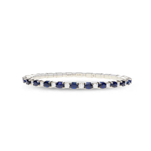 ROBERTO DEMEGLIO EXTENSIBLE SAPPHIRE AND DIAMOND STRETCH BRACELET