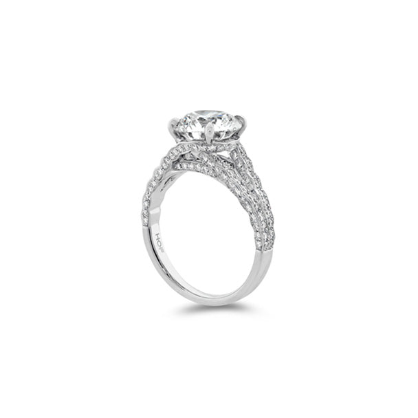 HEARTS ON FIRE 'BEL FIORE' 3.06 CT PLATINUM BESPOKE DIAMOND RING
