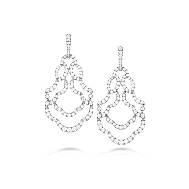 HEARTS ON FIRE 18CT WHITE GOLD LORELEI CHANDELIER DIAMOND EARRINGS