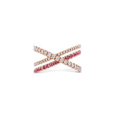 HEARTS ON FIRE HAYLEY PAIGE HARLEY WRAP POWER BAND PINK SAPPHIRE AND DIAMONDS