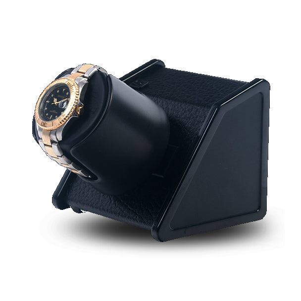 SPARTA 1 OPEN BLACK LEATHERETTE WATCH WINDER