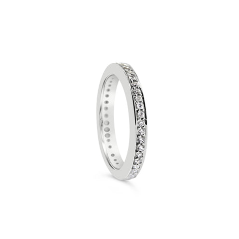 "18CT WHITE GOLD ""GRACE"" DIAMOND WEDDING RING"